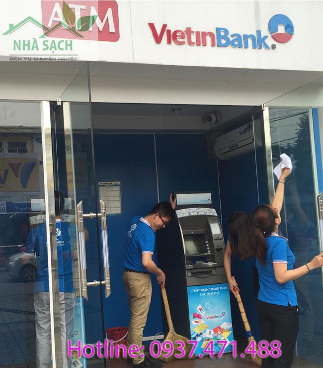 vệ sinh ngân hàng vietinbank, ve sinh ngan hang vietinbank